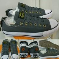 Jual Sepatu Converse All Star Chuck Taylor Button Back Low Canvas Grey Murah