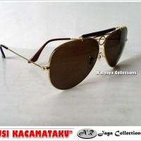 Jual Sunglasses / Kacamata Outdoor RayBxx Aviator Shoteer Klasik Brown LENS Murah