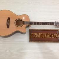jual gitar akustik merek helder - necknya dari kayu  mapple