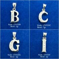Liontin Kalung Inisial Nama Huruf B C G I LTH120 Silver Perak 925