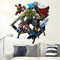 harga Wall Sticker Avenger 3D Iron Man Hulk Captain America Thor Tokopedia.com