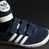 Sepatu Original Adidas Gazelle Kids Navy white