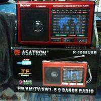 Jual Radio Jadul/Radio Asatron R-1068 9 bands USB+Lampu emergency Murah