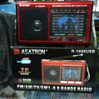 Jual Radio Asatron R 1068 USB 9 bands+Lampu emergency Murah