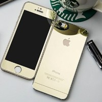 Mirror Front + Back Tempered Glass Screen Protector for iPhone 5 5S -