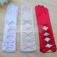 Sarung tangan pesta bermotif variasi 4 bentuk ketupat / pengantin