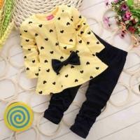 Setelan Nina Yello Kid / Grosir Pakaian Anak / Setelan Anak Perempuan