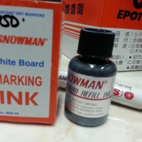 Isi tinta spidol white board/ refill Marking ink SNOWMAN