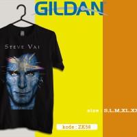kaos Steve Vai ZK58 - kaos musik band rock - kaos gildan softstyle