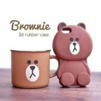 brownie rubber case samsung j2 dan j5