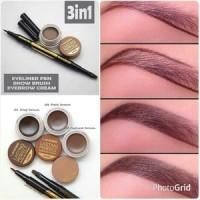 Jual Landbis - Lanbis Eyebrow Gel & Eyeliner + Brush Murah