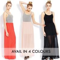 FOREVER 21 COMBO MAXI DRESS/ pakaian wanita