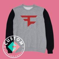 Sweater Faze Clan Logo Sablon Bludru