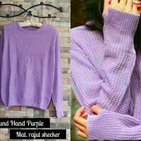 harga Round Hand Sweater Purple Tokopedia.com