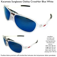 kacamata sunglasses pria okley crosshair super full set biru - putih