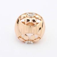 Cincin Korea diamond decorated hollow out petal shape