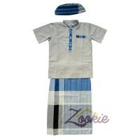Set Koko Sarung Instant (Blue Stripes)