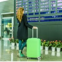 pelindung koper, elastic luggage cover,sarung bagasi warna warni (M)