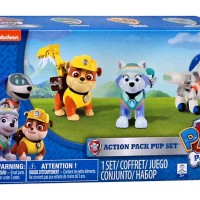 Nickelodeon, Paw Patrol Figure Set (Robodog, Everest, Rubble)