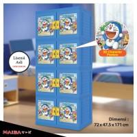 harga Lemari Plastik Naiba - Kabinet tipe Doraemon 3D 9574 D (Susun 4 Kunci) Tokopedia.com