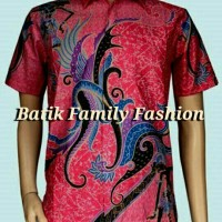 Kemeja Hem Batik Pria Jago Merah/Batik Pekalongan