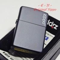 Zippo Classic Black Matte Logo 218ZL Original Lighter Korek Api USA
