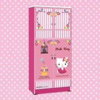 harga Lemari Pakaian Anak Karakter Hello Kitty Smile Heart WD HK 1802 SH Tokopedia.com