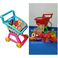Trolley mainan anak supermarket set