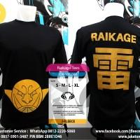 Tees Kaos  Anime Naruto Raikage Gold Edition