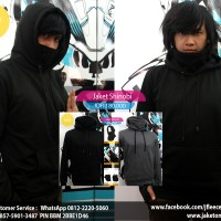 Jaket Sweater Ninja Shinobi High neck lubang jempol