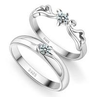 Jual cincin perak, palladium, tunangan, nikah, sepasang, kawin, CPG1031 Murah