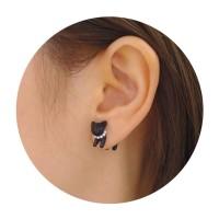 anting kucing hitam / cat head earring JAN027
