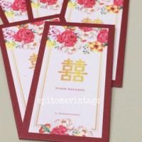 Jual Amplop Angpao Flower 03 - Pink Red Murah