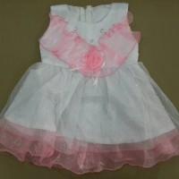 Baju bayi umur 6 - 12 bulan gaun dress glitter anggun untuk pesta