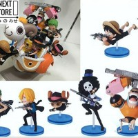 [Figure One Piece] Action Figure Set One Piece Going Merry Mini Attack