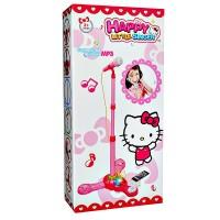 HAPPY LITTLE SINGER MICROPHONE MP3 HELLO KITTY MAINAN ANAK CEWEK