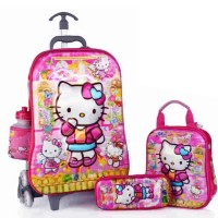 Tas Troley Samurai 6 Roda 5 Dimensi Gambar Rubah2 Hello Kitty 4 in 1
