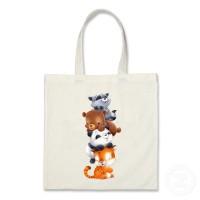 tote bag custom gambar ilustrasi animal 3