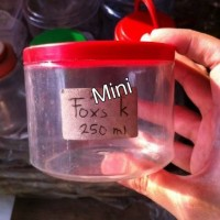Jar/ toples plastik mini untuk kue kering/ bawang goreng/tutup congkel