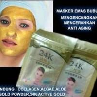 Masker 24 K Emas / Masker Gold Lianshinjia / Masker Bubuk Ori Termurah