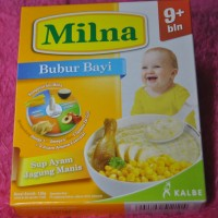 Milna Bubur Bayi Sup Ayam Jagung Netto 120gr (9+)