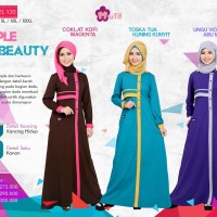 Mutif Model 135 (S-XL), Gamis, Dress, Busana Muslim, Gamis Syar'i