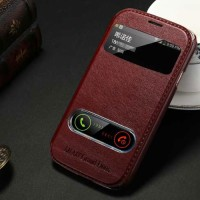 KLX Leather Flip Cover Case Kulit Samsung Galaxy Grand Duos - Neo Plus