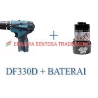Mesin Bor Obeng (Cordless / Driver Drill) Makita DF330D + BATERAI