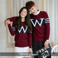 Lengan panjang couple Tebal   Grosir baju couple   WWW couple