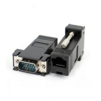 Connector VGA M Male to RJ45 Conector extender Konektor adapter AJ86