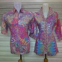 harga Sarimbit Kemeja Baju Pasangan Couple Batik Katun Tokopedia.com
