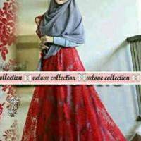 harga Busana Muslim Maxi Kebaya Pink Biru Merah Grey Gaun Gown Setelan Tokopedia.com