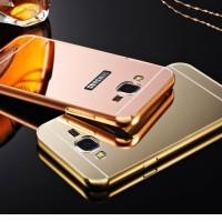 Case Mirror Samsung Galaxy J1 J 1 2016 Alumunium Bumper Backslide