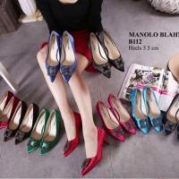 Sepatu MANOLO BLAHNIK B112 Sepatu Wanita Sepatu Branded Import